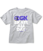 DGK Boys Skate All Day Grey Tee Shirt