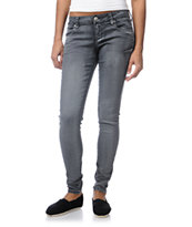STS Blue Girl Pieced Pocket Grey Skinny Jeans