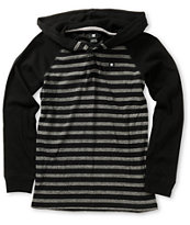 DC Boys Copius Black Long Sleeve Hooded Shirt