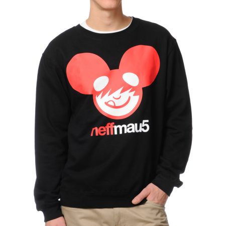 Neff x Deadmau5 Icon Black Crew Neck Sweatshirt