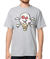 ICECREAM Back Bone Heather Grey Tee Shirt