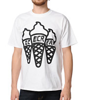 ICECREAM Multi Cone White Tee Shirt