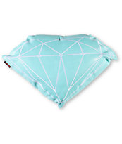 Diamond Supply Brilliant Teal & White Pillow