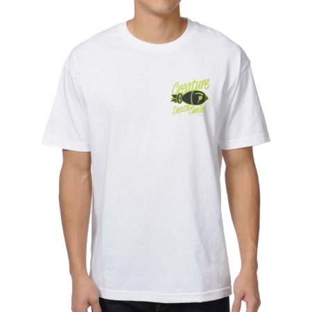 Creature Death Smiles White Tee Shirt