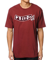 Volcom Pistol Dark Red Tee Shirt