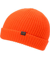 Coal Stanley Neon Orange Fold Beanie