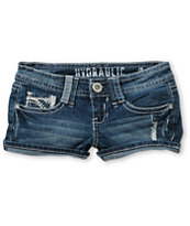Hydraulic Tonya Dark Wash Denim Shorts