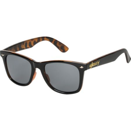 Glassy Mike Mo Gloss Black & Tortoise Sunglasses