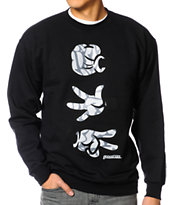 Booger Kids Rock, Paper, Cut Dumbo Black Crew Neck Sweatshirt