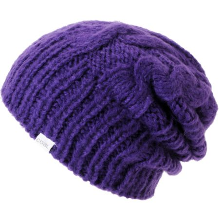 Coal Girls Parks Purple Cable Knit Beanie