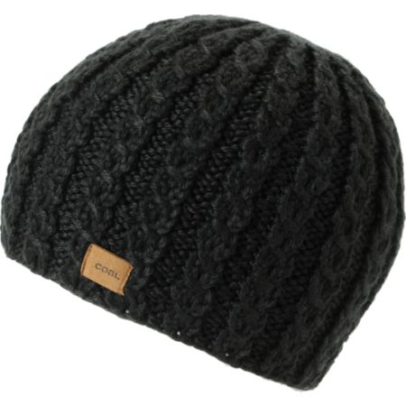 Coal Girls Mini Black Cable Knit Beanie