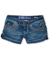 Hydraulic Julie Dark Wash Denim Shorts