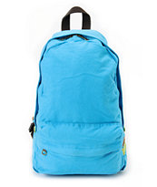 Carrot Company Solid Blue Canvas Backpack