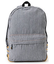 Carrot Company Denim White Stripe Backpack