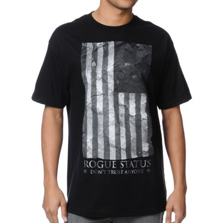 DTA Black Flag Black Tee Shirt