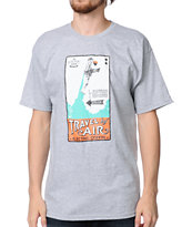 Spacecraft x Electric Coffin Travel By Air Grey Tee Shirt