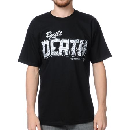 Spacecraft x Electric Coffin Greetings Black Tee Shirt