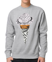 ICECREAM Single Scoop Heather Grey Crew Neck Sweatshirt