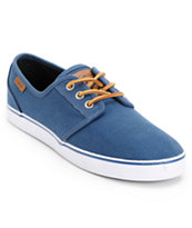 Circa Crip Navy Canvas, Brown, & White Skate Shoe