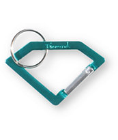 Diamond Supply Teal Carabineer Rock Key Chain
