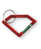 Diamond Supply Red Carabiner Rock Key Chain