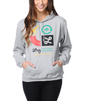LRG Girls Icons Heather Grey Pullover Hoodie