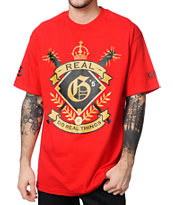 Gold Wheels Real Gs Red Tee Shirt