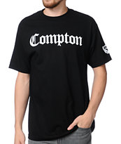 Gold Wheels Compton Black Tee Shirt