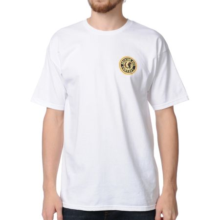 Brixton Spear White Tee Shirt