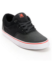 Dekline Keaton Black, Red, & White Skate Shoe