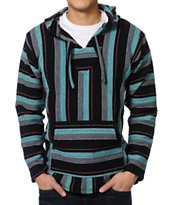 Senor Lopez Charcoal, Black, Mint & Pink Poncho