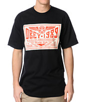 Obey Wings Trademark Black Tee Shirt
