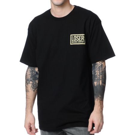 Loser Machine Camo Loser Black Tee Shirt