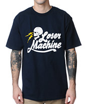 Loser Machine Mind Bender Navy Tee Shirt