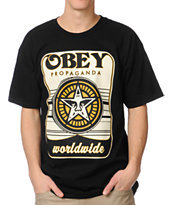 Obey Coin Drop Black Tee Shirt