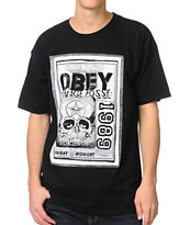 Obey Savage Posse Black Tee Shirt