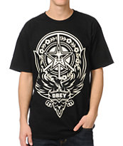 Obey Peace Phoenix Black Tee Shirt