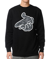 Crooks and Castles Tiger Camo Airgun Black Crew neck Sweatshirt