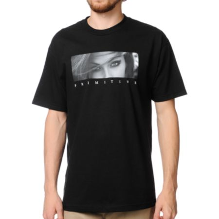 Primitive Eyes Without A Face Black Tee Shirt