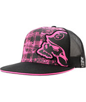 Metal Mulisha Girls Licious Black Trucker Hat