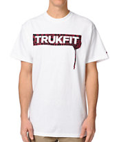 Trukfit Original Drip Cheetah White Tee Shirt