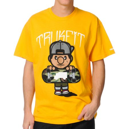 Trukfit Tommy Camo Dark Yellow Tee Shirt