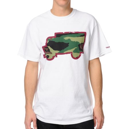 Trukfit Fill Up Camo White Tee Shirt
