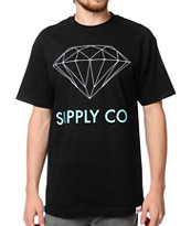 Diamond Supply Co. Black & Mint Tee Shirt