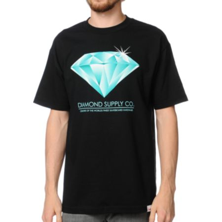 Diamond Supply Creators Black Tee Shirt