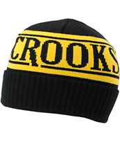 Crooks and Castles Full Blast Black Cuff Beanie