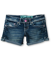Hydraulic Jen 4in Medium Blue Denim Shorts