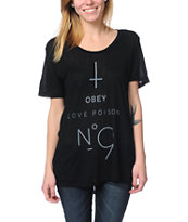 Obey No. 9 Black Beau Tee Shirt