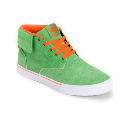 Supra Passion Lizard King Pro + Am Green Suede Limited Edition Shoe