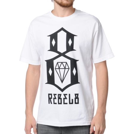 REBEL8 Logo White Tee Shirt